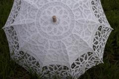 купить белый свадебный летний ажурный зонт в новосибирске