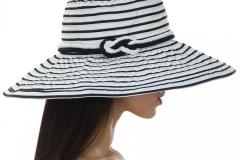 купить полосатую летнюю шляпу бело-синюю