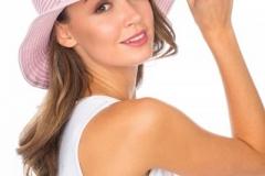 пудровая мягкая шляпка