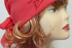 льняная летняя шапочка