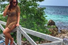 туника леопардовая для пляжа